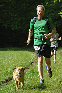 Dog and Runner